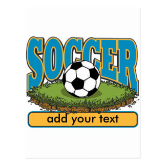 Custom Soccer Add Text Postcard