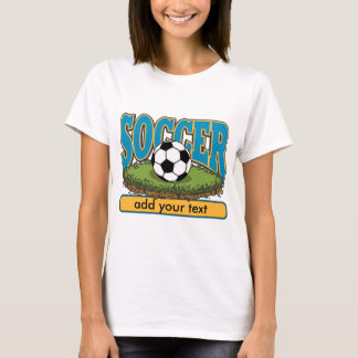 Custom Soccer Add Text T-Shirt