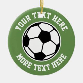 Custom soccer ball sports Christmas tree ornament