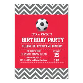 "Custom Soccer Birthday Party Invitation for Boy 5"" X 7"" Invitation Card"