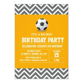 Custom Soccer Birthday Party Invitation for Boy