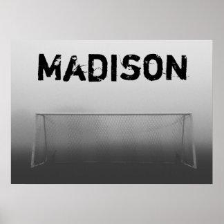 Custom Soccer (Football) Player / Team Name Poster