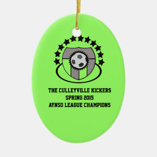 Custom Soccer League Gift or Award - Ceramic Ornament