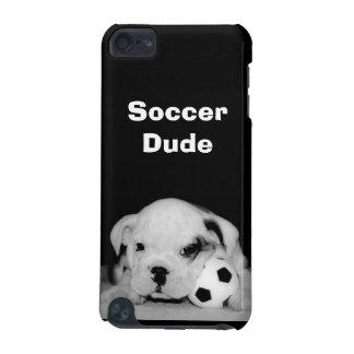 "Custom ""Soccer Puppy"" English Bulldog iPod Touch (5th Generation) Cover"