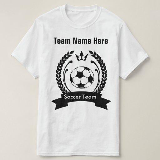 Custom soccer team t shirt template zazzle for Zazzle t shirt template