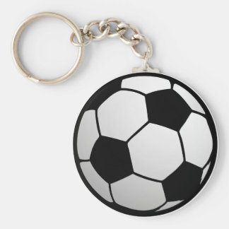 Custom SoccerBall for soccer Teams and Soccer Fans Basic Round Button Keychain