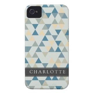 Custom Soft Blue Triangles iPhone 4 Cover