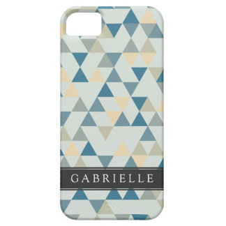 Custom Soft Blue Triangles iPhone SE/5/5s Case