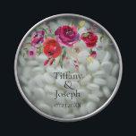 "Custom Soft Floral Wedding Favor Candy Tin Mints<br><div class=""desc"">Custom Soft Floral watercolor Roses Wedding Favor Candy Tin with Mints</div>"