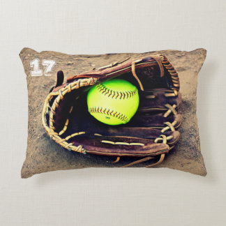 Custom Softball Accent Pillow