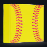 """Custom Softball Binder<br><div class=""""desc"""">Custom Softball Binder: Add your own text to make your own personalized softball Binder. These are great for softball players, coaches, parents and fans. Could be used as a playbook for the team, or as school or office supplies. Check out our shop - Custom Sports Gear - for lots of...</div>"""