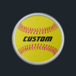 """Custom Softball Bluetooth Speaker<br><div class=""""desc"""">Custom Softball Bluetooth Speaker: Add your own text to make your own personalized softball Bluetooth Speaker. These are great for softball players,  coaches,  parents and fans.</div>"""