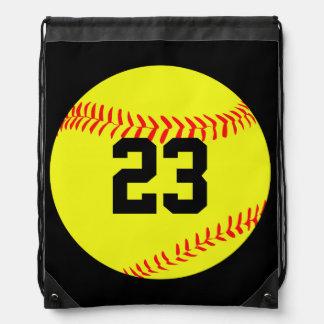 Custom Softball Drawstring Backpack