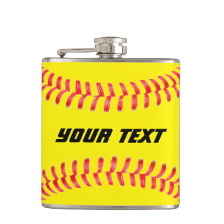 Custom Softball Flask