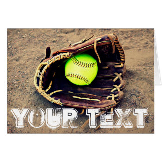 Custom Softball Greeting Card