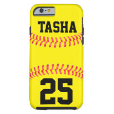 Custom Softball Iphone 6 Case at Zazzle