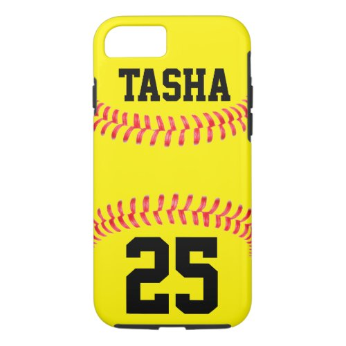 iphone 7 case with softball pattern