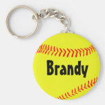 Custom Softball Key Chain