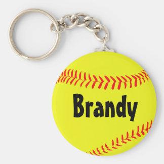 Custom Softball Key Chain