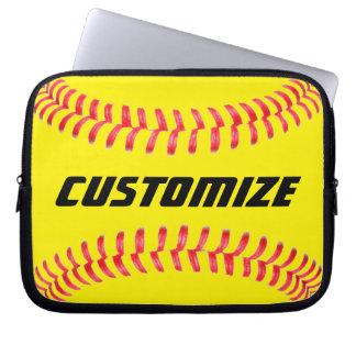 Custom Softball Laptop Sleeve