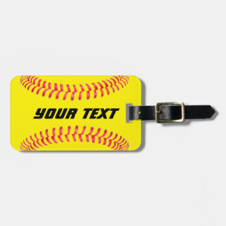 Custom Softball Luggage Tag