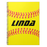 Custom Softball Notebook