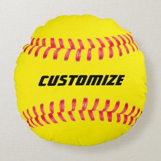 Custom Softball Pillow at Zazzle