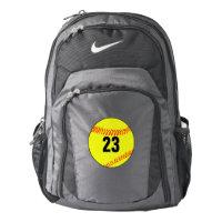Custom Softball Player Backpack