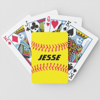 Custom Softball Playing Cards