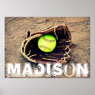 Custom Softball Poster