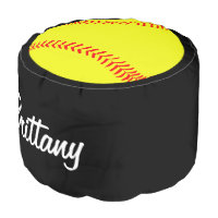 Custom Softball Round Pouf Beanbag Chair