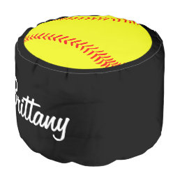 Custom Softball Round Pouf Beanbag Chair