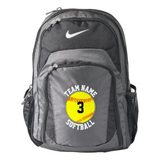 Custom Softball Team Name & Player Number Sports Backpack