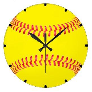 Custom Softball Wall Clock