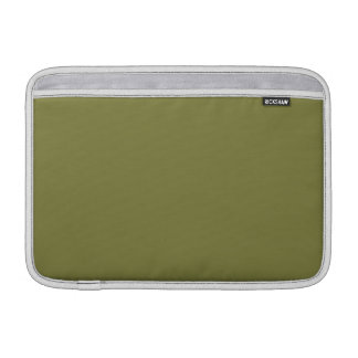 Custom Solid Color Woodbine Green - High End Color Sleeves For MacBook Air