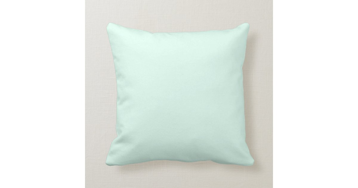 Mint Green Color custom solid light mint green color throw pillow | zazzle