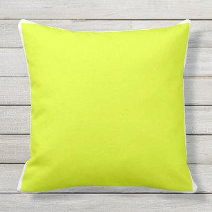 Bright Yellow And White Pillows Decorative Throw Pillows Zazzle