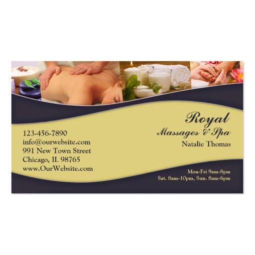 Custom Spa Massage Business Card