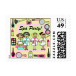 Custom Spa Party Postage Stamps