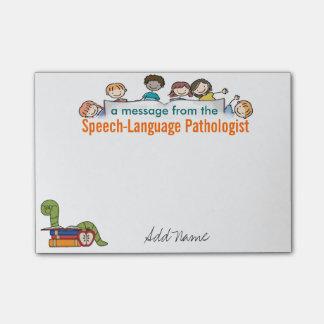 Custom Speech-Language Pathologist Sticky Notes