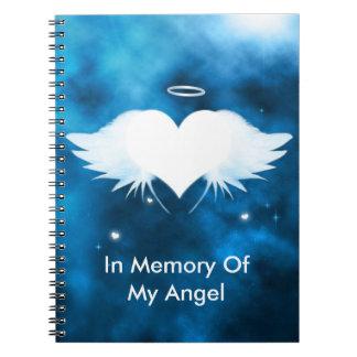 Custom Spiral Photo Notebook - Angel of the Heart
