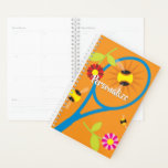 "Custom spiral planner with tennis racket design<br><div class=""desc"">Custom spiral planner with tennis racket design. Personalized weekly / monthly agenda book. Make your own cover design. Elegant gift idea for friends, family, coworker, boss, colleague, school teacher, player, girl, coach, mom, trainer, fan, company manager etc. Office presents for him or her. Sports design. Double sided design. Upload your...</div>"