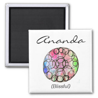 Custom Spiritual Name Magnet: Flower of Life Magnet