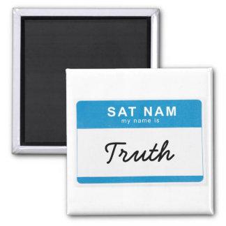 Custom Spiritual Name Magnet: Sat Nam. My name is_