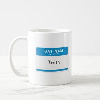 Custom Spiritual Name Mug: Sat Nam. My name is __. Classic White Coffee Mug
