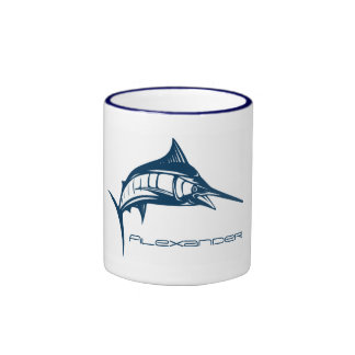 Custom Sport Fishing   Jumping Blue Swordfish Ringer Mug