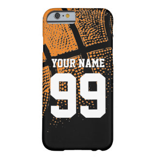 Custom sports basketball jersey number iPhone case Barely There iPhone 6 Case