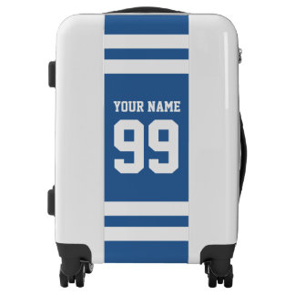 Custom sports jersey number luggage suitcase