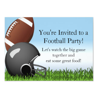 Custom Sports Party Football Game Helmet/Ball 4.5x6.25 Paper Invitation Card