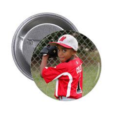 Custom Sports Photo Button at Zazzle